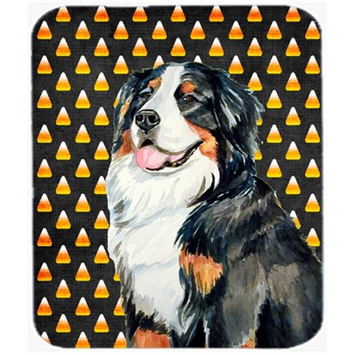Carolines Treasures LH9075MP Bernese Mountain Dog Candy Corn Halloween Portrait Mouse Pad Hot Pad or Trivet