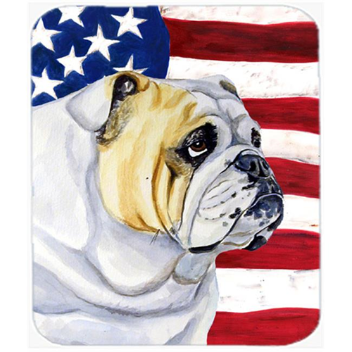 Carolines Treasures LH9018MP Usa American Flag With English Bulldog Mouse Pad Hot Pad Or Trivet