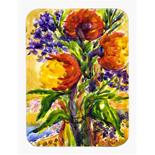 Carolines Treasures 6074MP 9.5 x 8 in. Flower Mouse Pad Hot Pad Or Trivet