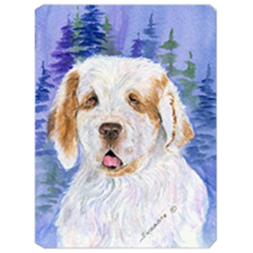 Carolines Treasures SS8008MP 8 x 9.5 in. Clumber Spaniel Mouse Pad Hot Pad Or Trivet