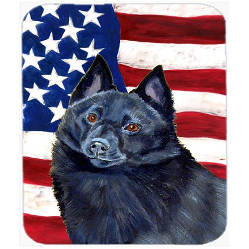 Carolines Treasures LH9009MP 9.5 x 8 in. USA American Flag with Schipperke Mouse Pad Hot Pad Or Trivet