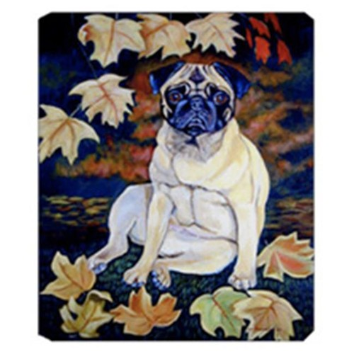Carolines Treasures 7160MP 8 x 9.5 in. Old Fawn Pug in Fall Mouse Pad Hot Pad Or Trivet