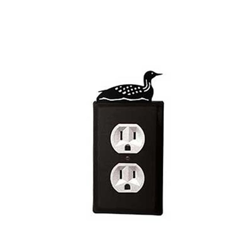 Village Wrought Iron EO-116 Loon Outlet Cover-Black