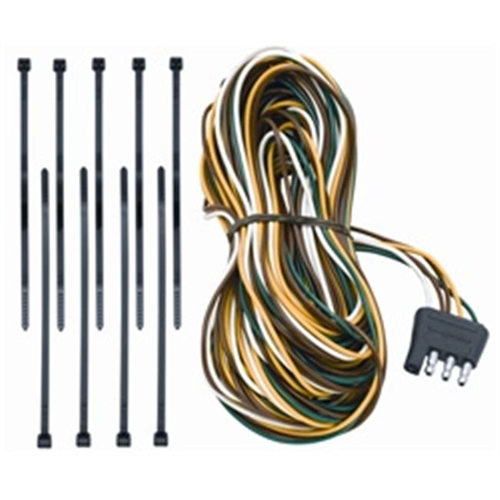 Tow Ready 118192 4-Flat Trailer End Connector Dual Tail Light Wires 25 Ft. Long 3.98 x 3.88 x 8.88 in.