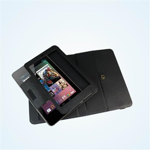 Totally Tablet CSPDA-NEXT7-708 -R-BLK Protective 360� Rotating Google Nexus 7 Removable Folio Case