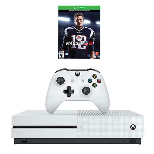 Xbox One S 500GB Madden NFL 18 Bundle