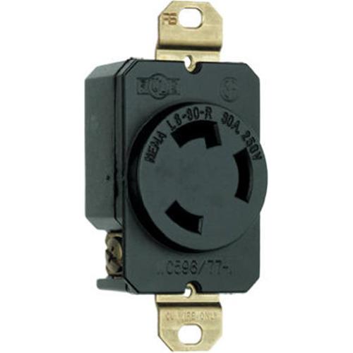 Pass & Seymour L630RCCV3 Locking Outlet 30A Black