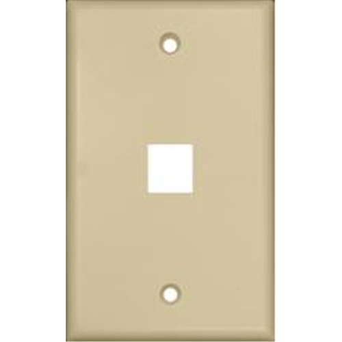 Morris Products 88142 Wallplate For Keystone Jacks And Modular Inserts One Port Ivory