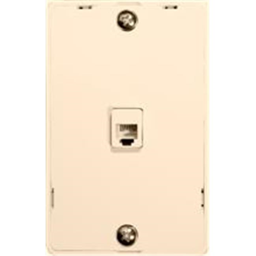 Morris Products 80033 Plastic Wall Phone Plate Lt. Almond