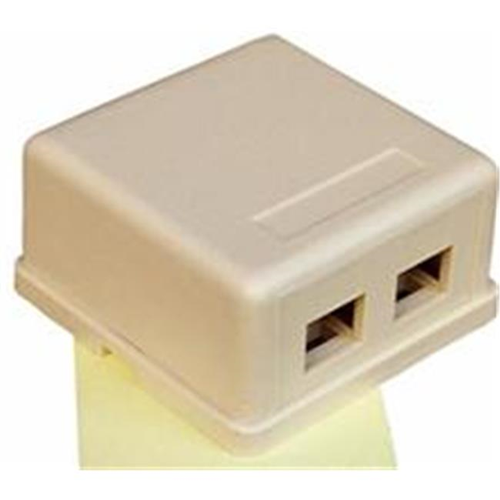 Morris Products 88256 Double Gang Surface Mount Box Ivory