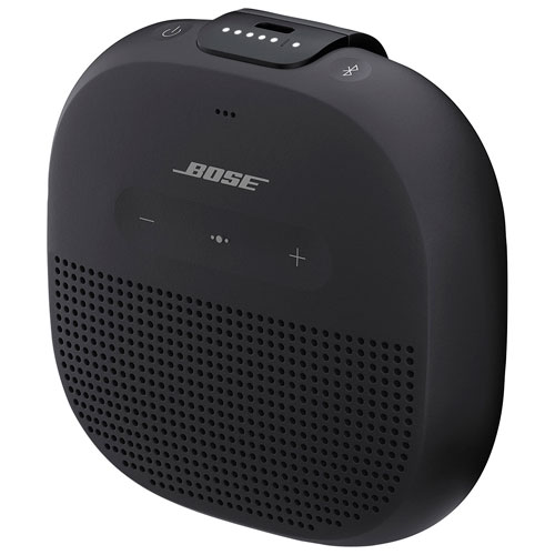c409ce8019a Bose SoundLink Micro Rugged Waterproof Bluetooth Speaker - Black   Portable  Bluetooth Speakers - Best Buy Canada