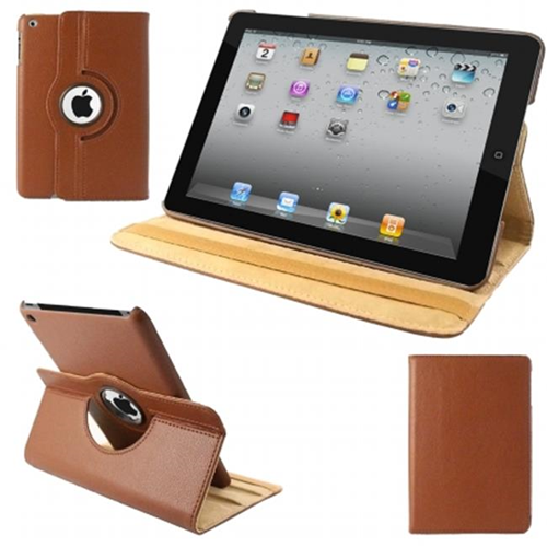 Natico 60-IM360-BR IPAD MINI 360 CASE FAUX BROWN