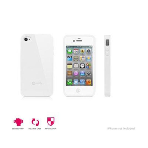 Macally FlexFitP4SW Flexible Case for iPhone 4S-4 White - Pack of 2