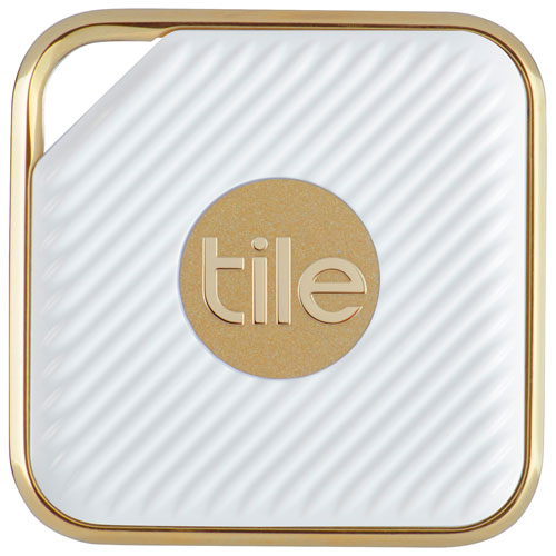 Tile Style Bluetooth Item Tracker - 1 Pack - White/Gold