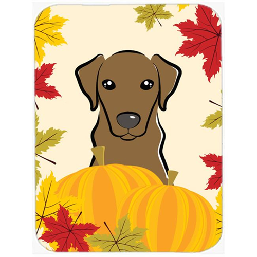 Carolines Treasures BB2040MP Chocolate Labrador Thanksgiving Mouse Pad Hot Pad or Trivet