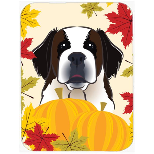 Carolines Treasures BB2052MP Saint Bernard Thanksgiving Mouse Pad Hot Pad or Trivet