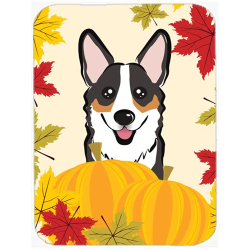 Carolines Treasures BB2061MP Tricolor Corgi Thanksgiving Mouse Pad Hot Pad or Trivet