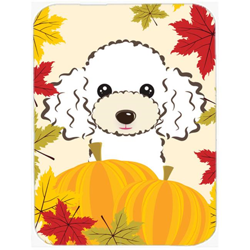Carolines Treasures BB2063MP White Poodle Thanksgiving Mouse Pad Hot Pad or Trivet