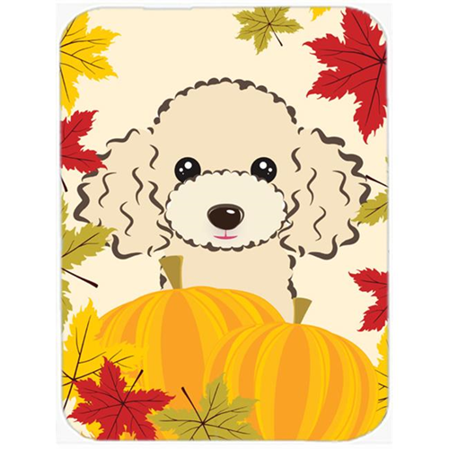 Carolines Treasures BB2064MP Buff Poodle Thanksgiving Mouse Pad Hot Pad or Trivet