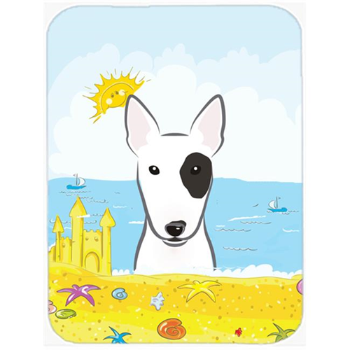 Carolines Treasures BB2077MP Bull Terrier Summer Beach Mouse Pad Hot Pad or Trivet