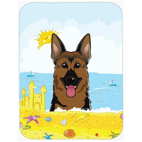 Carolines Treasures BB2079MP German Shepherd Summer Beach Mouse Pad Hot Pad or Trivet