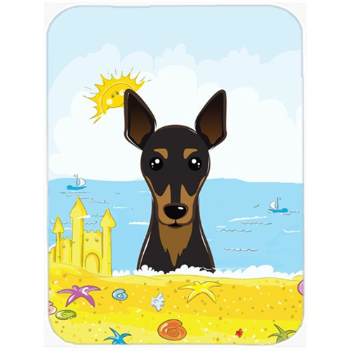 Carolines Treasures BB2108MP Min Pin Summer Beach Mouse Pad Hot Pad or Trivet