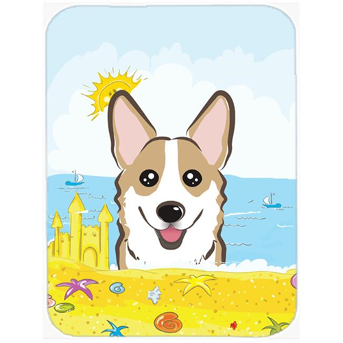 Carolines Treasures BB2121MP Sable Corgi Summer Beach Mouse Pad Hot Pad or Trivet