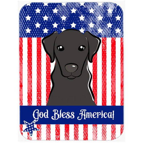 Carolines Treasures BB2165MP God Bless American Flag with Black Labrador Mouse Pad Hot Pad or Trivet