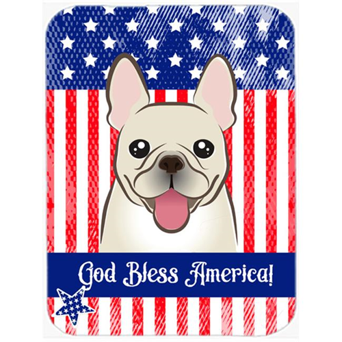 Carolines Treasures BB2168MP God Bless American Flag with French Bulldog Mouse Pad Hot Pad or Trivet