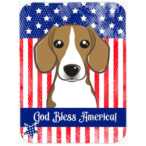 Carolines Treasures BB2169MP God Bless American Flag with Beagle Mouse Pad Hot Pad or Trivet