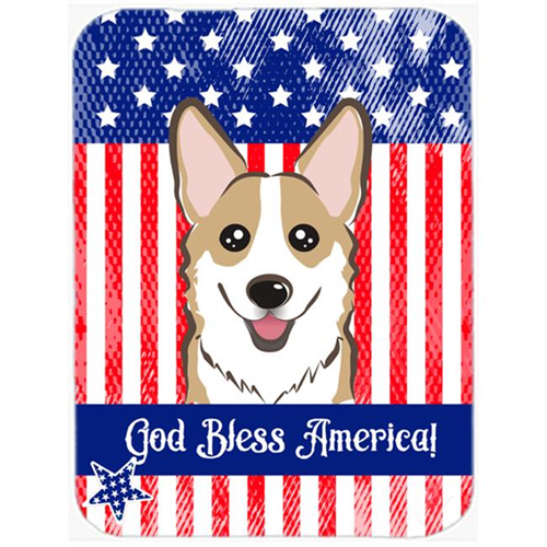 Carolines Treasures BB2183MP God Bless American Flag with Sable Corgi Mouse Pad Hot Pad or Trivet