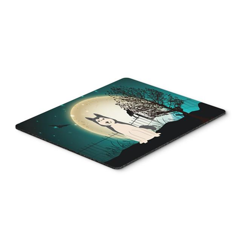 Carolines Treasures BB2215MP Halloween Scary West Siberian Laika Spitz Mouse Pad Hot Pad or Trivet