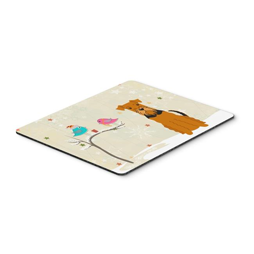 Carolines Treasures BB2513MP Christmas Presents Between Friends Airedale Mouse Pad Hot Pad or Trivet