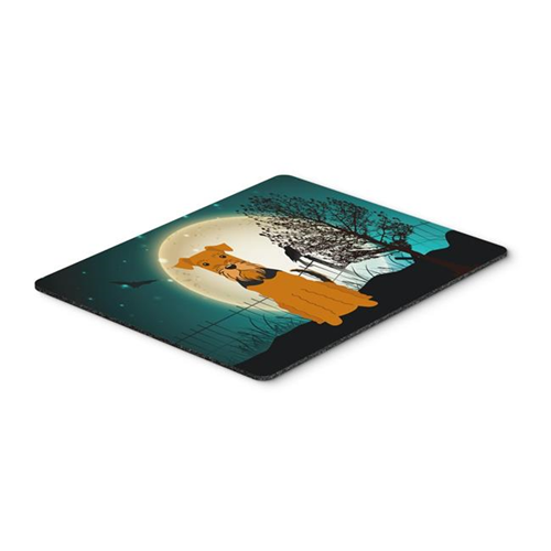 Carolines Treasures BB2231MP Halloween Scary Airedale Mouse Pad Hot Pad or Trivet