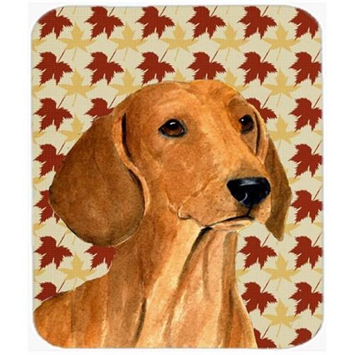 Carolines Treasures SS4369MP 9.5 x 8 in. Dachshund Fall Leaves Portrait Mouse Pad Hot Pad or Trivet