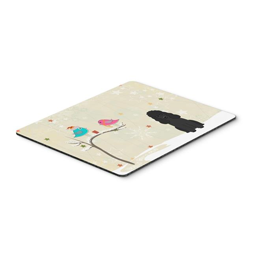 Carolines Treasures BB2543MP Christmas Presents Between Friends Poodle Black Mouse Pad Hot Pad or Trivet