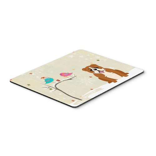 Carolines Treasures BB2592MP Christmas Presents Between Friends English Bulldog Red & White Mouse Pad Hot Pad or Trivet