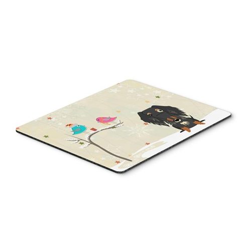 Carolines Treasures BB2600MP Christmas Presents Between Friends Wire Haired Dachshund Dapple Mouse Pad Hot Pad or Trivet