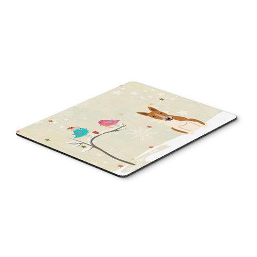 Carolines Treasures BB2607MP Christmas Presents Between Friends Bull Terrier Red & White Mouse Pad Hot Pad or Trivet