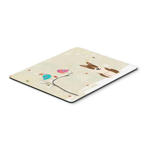 Carolines Treasures BB2609MP Christmas Presents Between Friends Bull Terrier Brindle Mouse Pad Hot Pad or Trivet