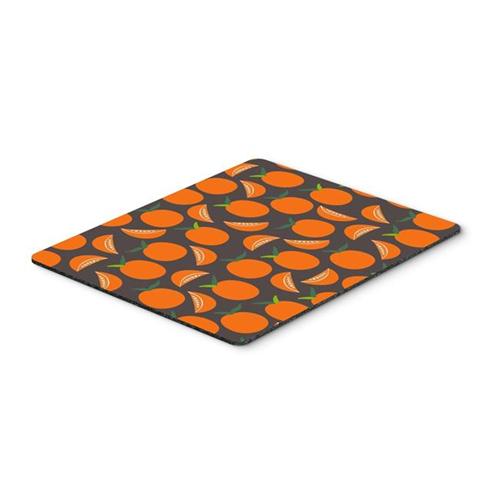 Carolines Treasures BB5142MP Orange on Grey Mouse Pad Hot Pad or Trivet