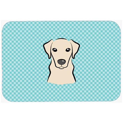 Carolines Treasures BB1160MP Checkerboard Blue Yellow Labrador Mouse Pad Hot Pad Or Trivet 7.75 x 9.25 In.