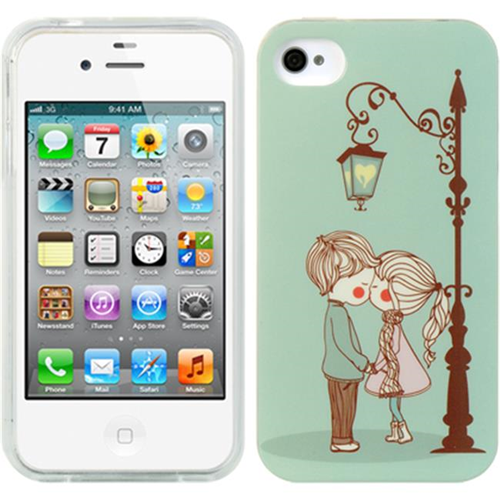 DreamWireless IP-TIIP4CUCP Apple iPhone 4 & iPhone 4S TPU IMD Case - Cute Couple