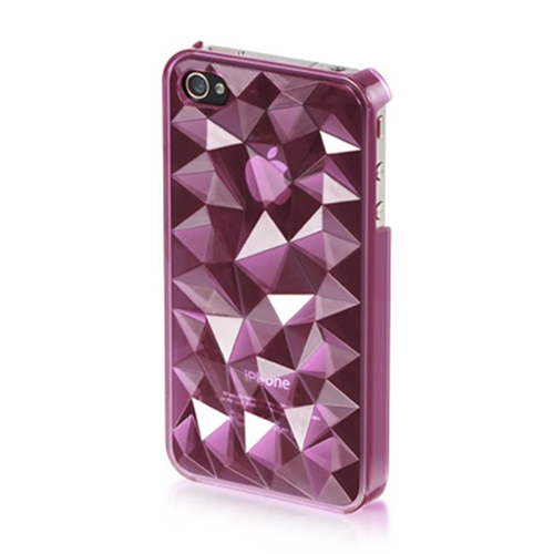 DreamWireless IP-MCIP4VZPP iPhone 4S & iPhone 4 Compatible Mount Crystal Case - Purple