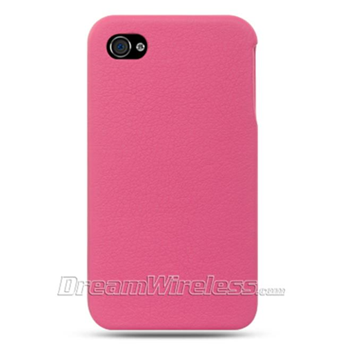 DreamWireless IP-CALIP4VHP iPhone 4S & iPhone 4 Compatible Crystal Leather Vertical Case - Hot Pink