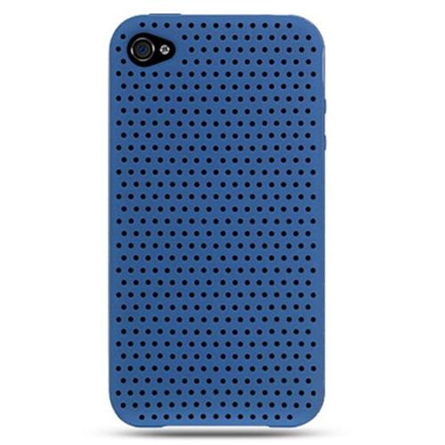 DreamWireless IP-SCIP4BLA iPhone 4 At & T Premium Skin Case - Blue Apex