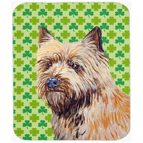 Carolines Treasures LH9185MP Cairn Terrier St. Patricks Day Shamrock Portrait Mouse Pad Hot Pad or Trivet