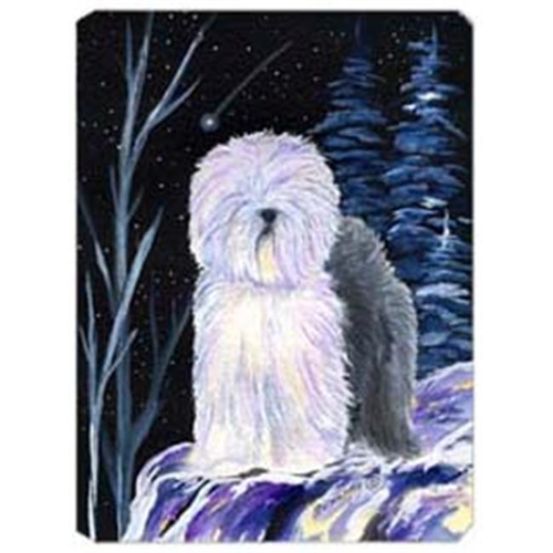 Carolines Treasures SS8406MP Starry Night Old English Sheepdog Mouse Pad