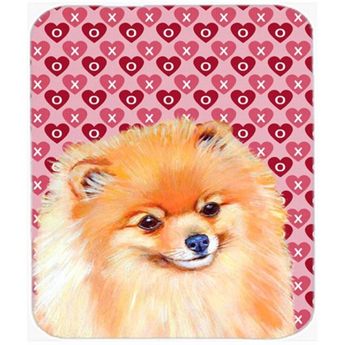 Carolines Treasures LH9170MP Pomeranian Hearts Love And Valentines Day Mouse Pad Hot Pad or Trivet