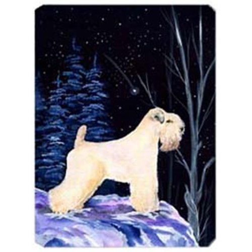 Carolines Treasures SS8386MP Starry Night Wheaten Terrier Soft Coated Mouse Pad